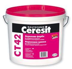 Акриловая наружная фасадная краска CERESIT CT-42