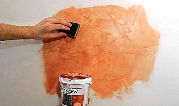 Декоративная штукатурка стен под покраску своими руками 69