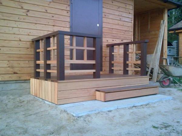 Деревянное крыльцо к дому своими руками фото