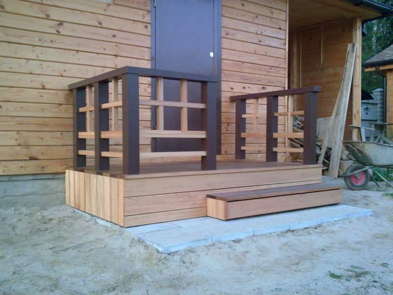 Крыльцо деревянного дома своими руками фото