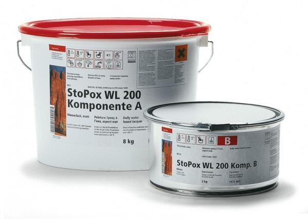 Двухкомпонентная эпоксидная краска для бетона.