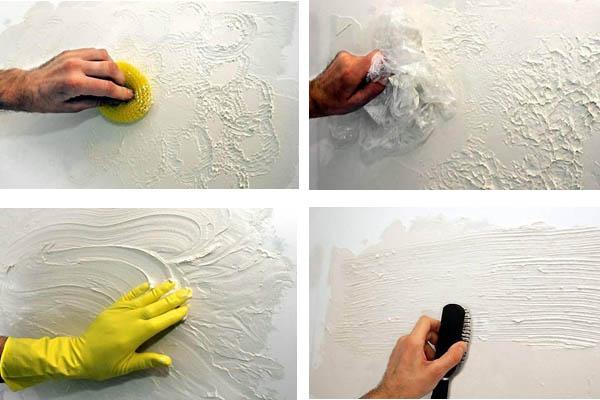Декоративная покраска стен своими руками фото
