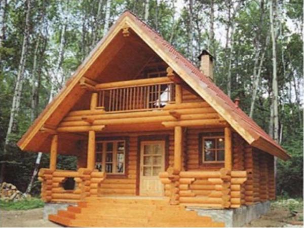 Фото деревянного сруба.