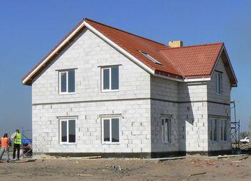 Фото дома построенного из газобетонных блоков