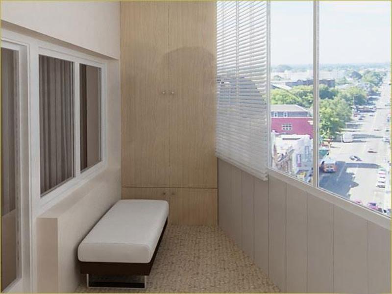 Фото готового к эксплуатации балкона