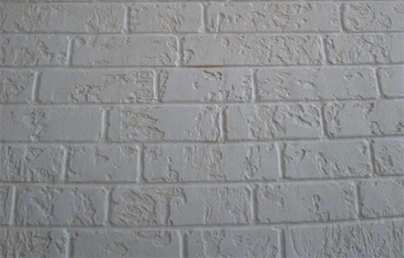 Стена под кирпич из штукатурки своими руками видео