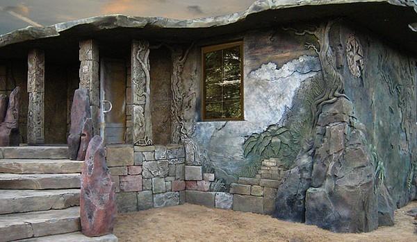 Фото оригинального дизайна фасада.