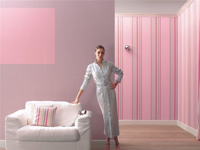 Фото помещения, оформленного в розовой гамме