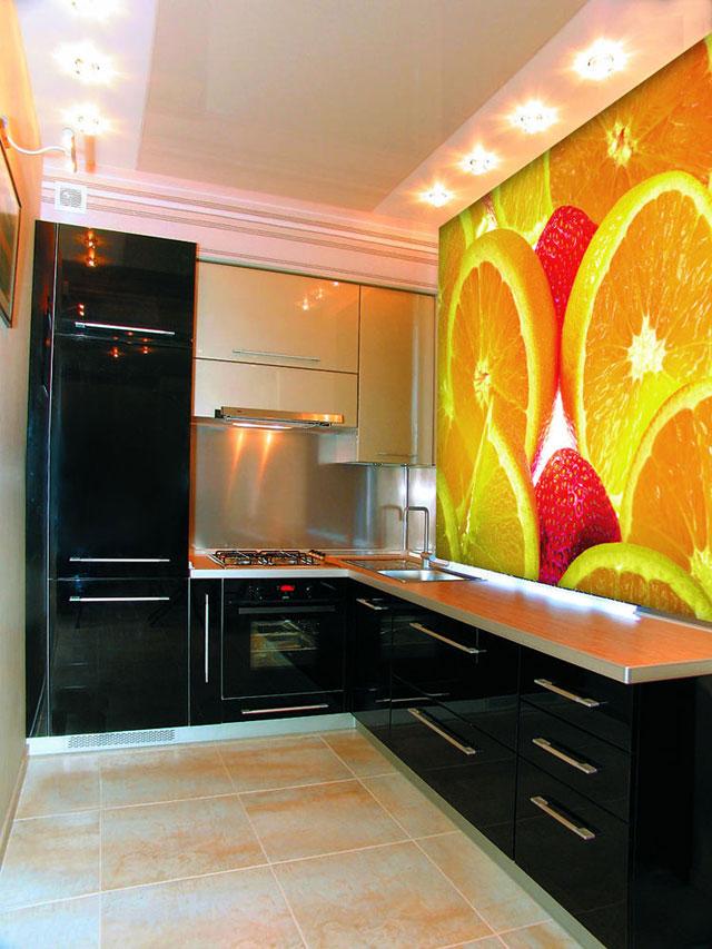 Фотообои на стену кухни фото