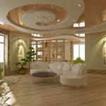 Гипсокартонный потолок с натяжным