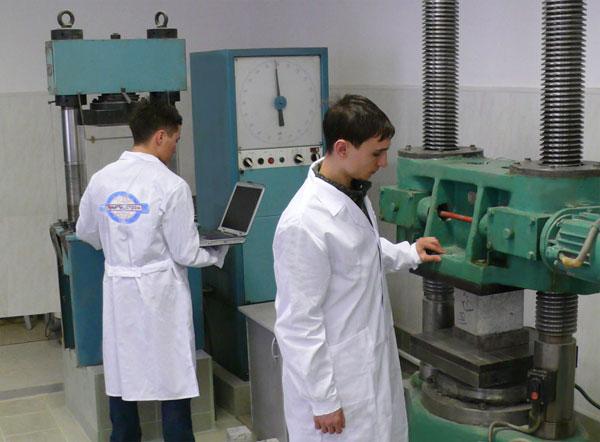 Испытательный стенд для тестирования строительных материалов