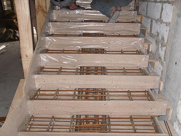 Лестница бетонная своими руками фото