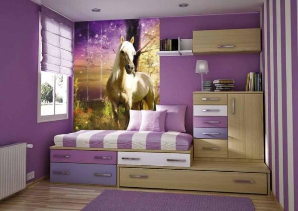 Изображение любимого животного, всегда будет радовать обитательницу комнаты