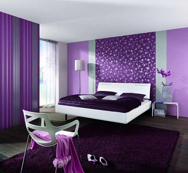 Как поклеить обои разных цветов в одной комнате фото