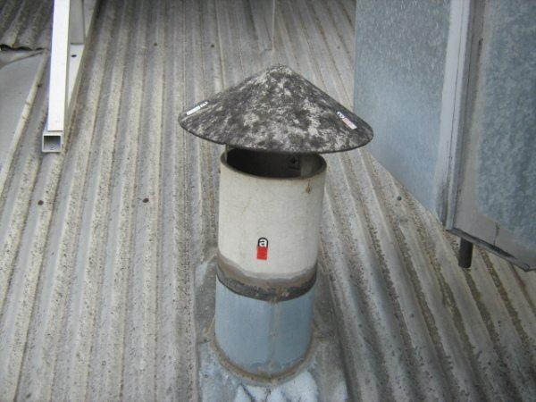 Конструкция для вывода печных газов