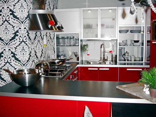 Обои для кухни виниловые моющиеся