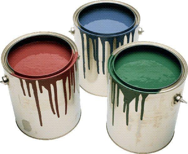 Масляная фасадная краска в банках различного цвета