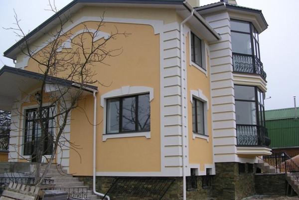 Мокрый фасад дома