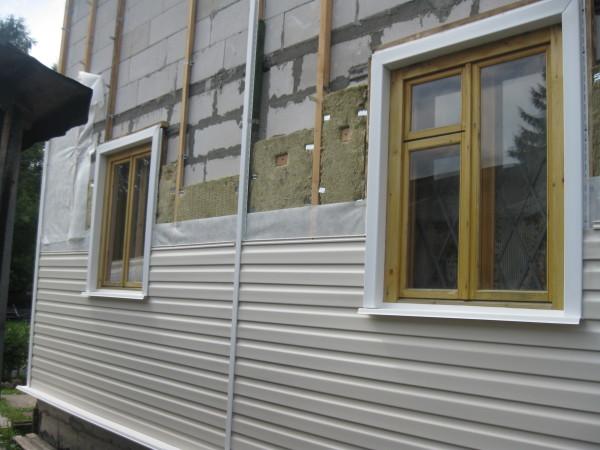 Монтаж вентилируемого фасада с пластиковым сайдингом.