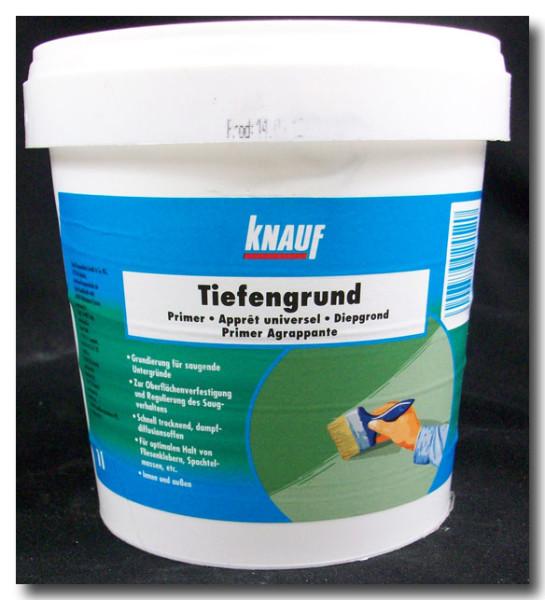 На фото - универсальный состав Knauf Tiefengrund