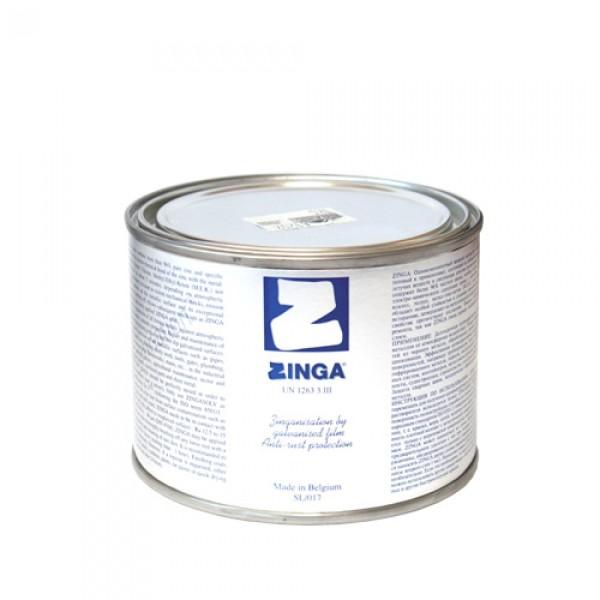 На фото - упаковка краски Зинга бельгийского производства.