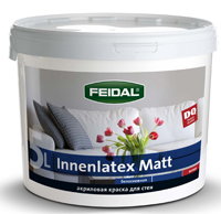 На фото: FEIDAL Innenlatex matt – латексная, супербелая