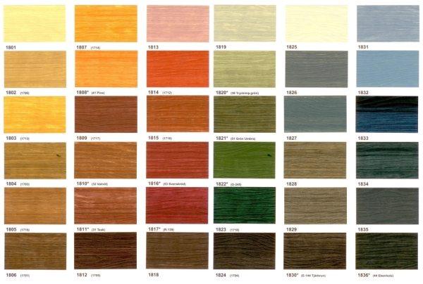 На фото показана цветовая палитра лессирующих составов.