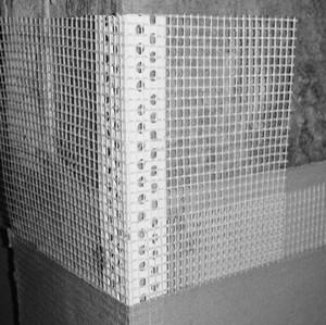 Наклеенный уголок с сеткой
