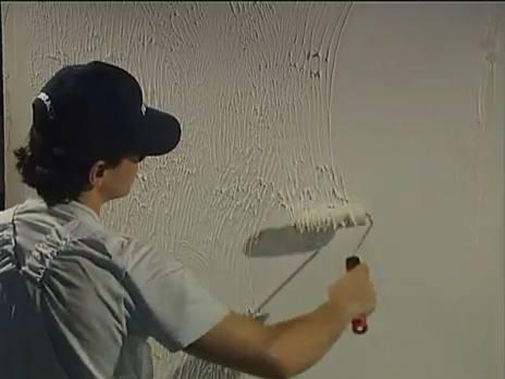 Шпаклевка стен валиком своими руками