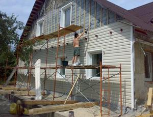 Наружные работы могут потребовать наличия строительных лесов или прочной лестницы
