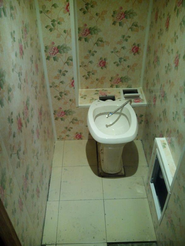 Ремонт туалета панелями фото
