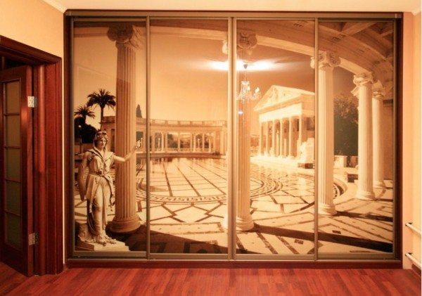Немного античной панорамы в отделке современной квартиры