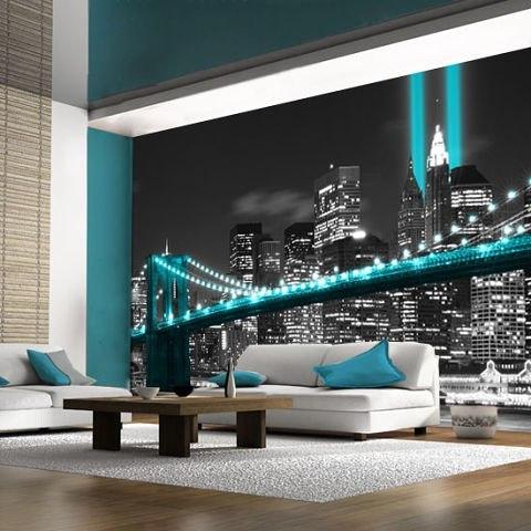фотообои ночного города на стену: