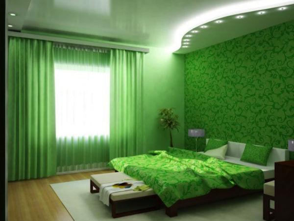 Цвет обои для спальни