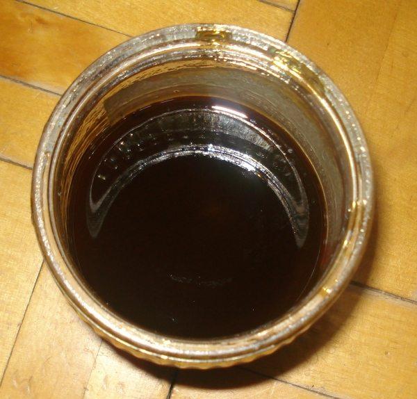 Образец натуральной олифы на основе из подсолнечного масла