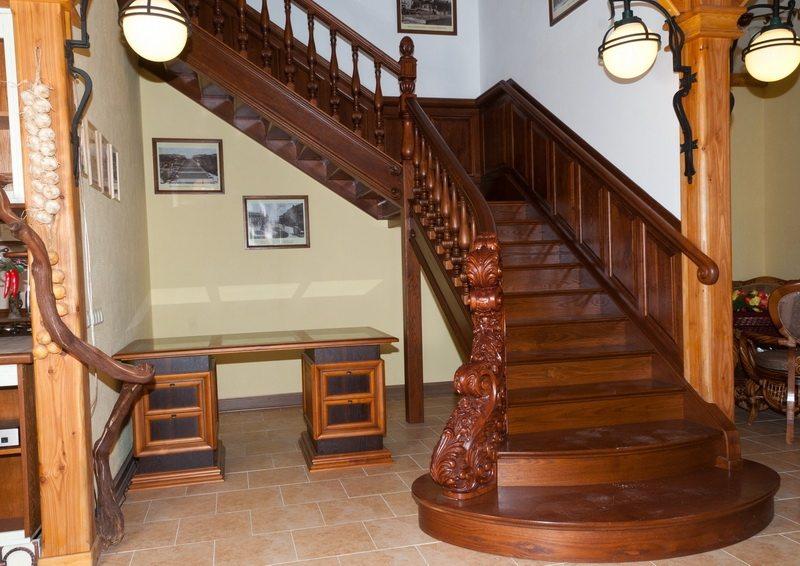 Дизайн деревянных лестниц фото