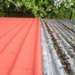 Окрашивание крыши: фото
