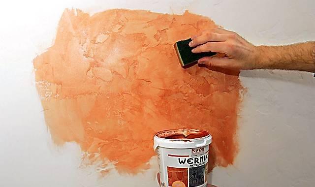 Декоративная штукатурка своими руками покраска