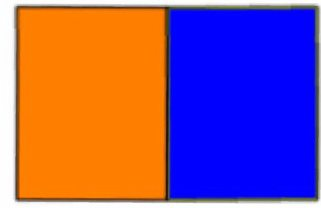 Оранжевый + синий
