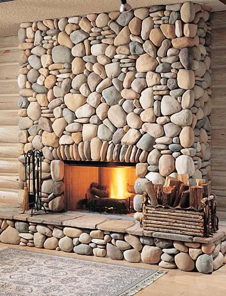 Облицовка печи натуральным камнем