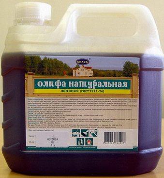 Основа - льняное масло.