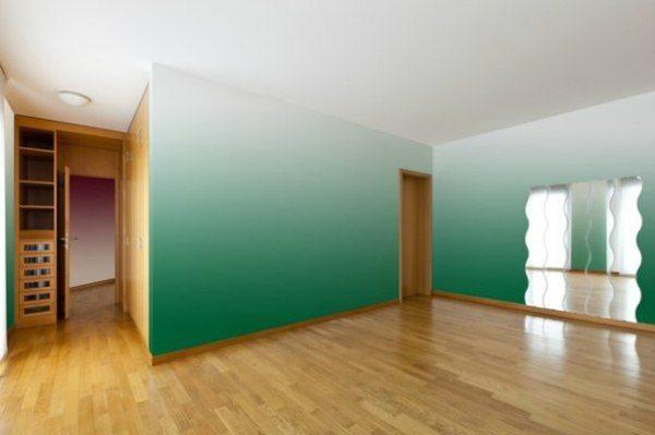 Осветление верха стены при вертикальном градиенте делает помещение выше.
