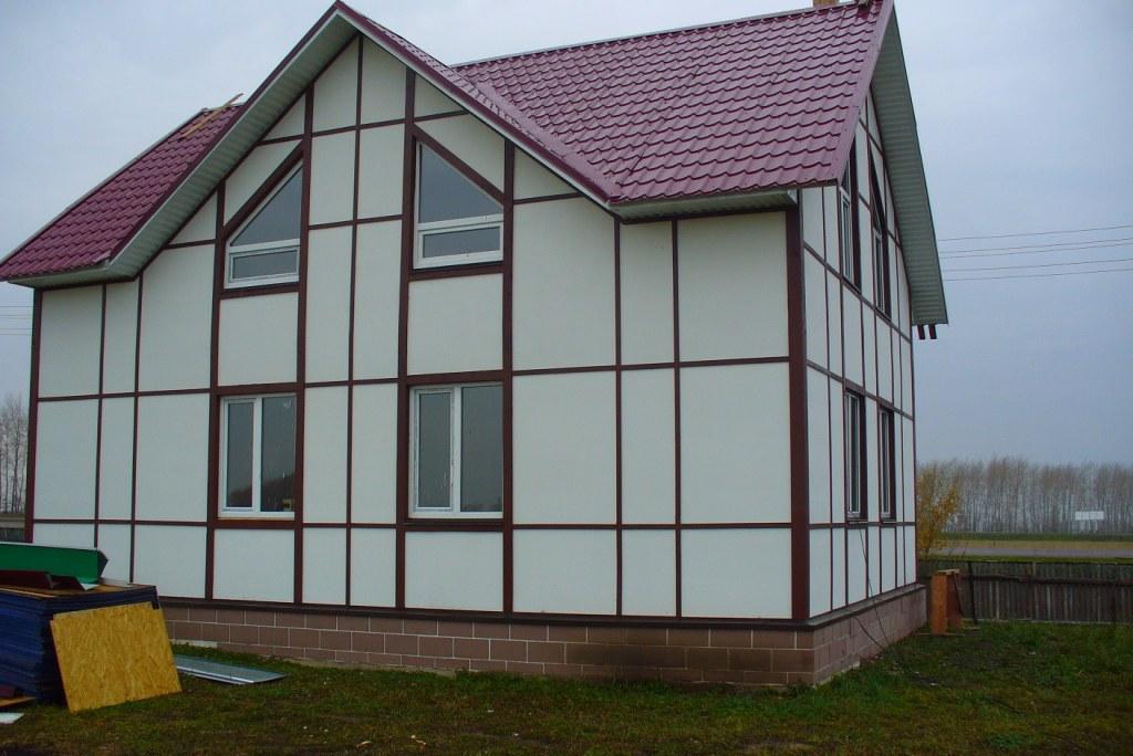 Дом из плоского шифера