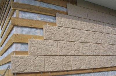 Отделка фасада дома плиткой сухим способом