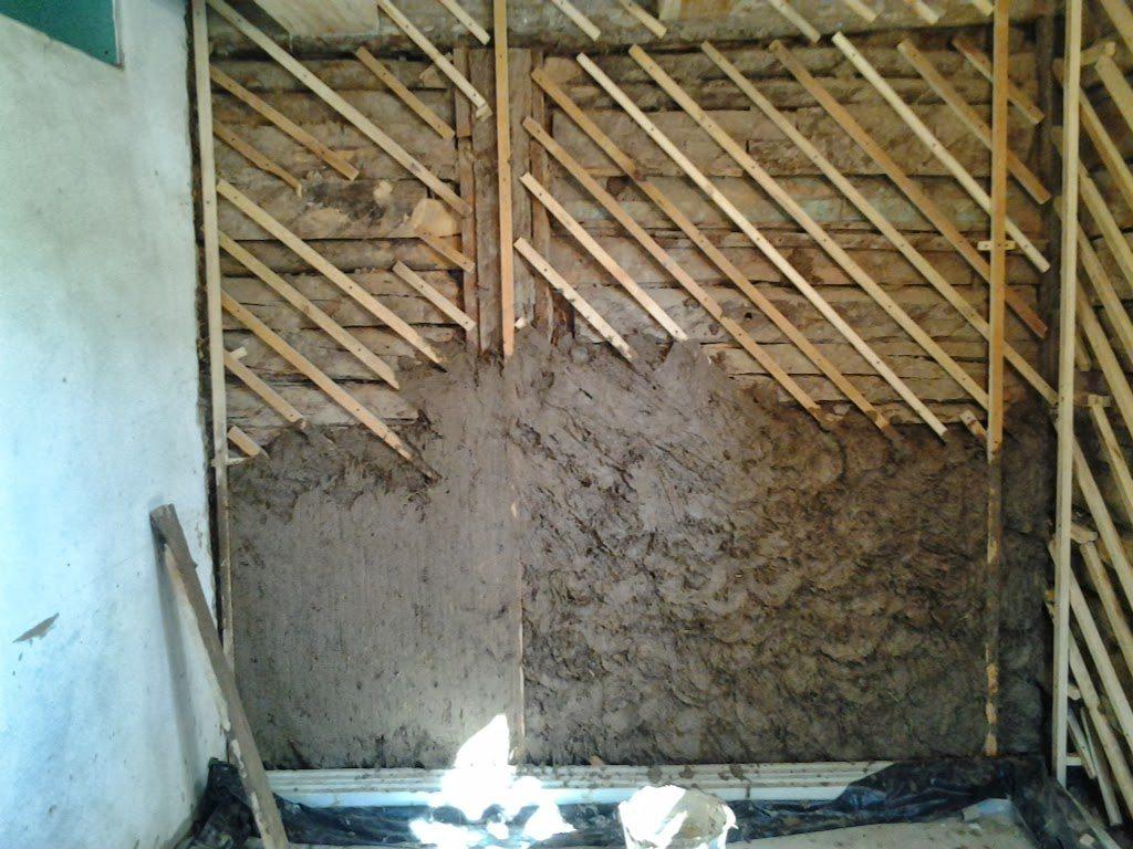 Штукатурка стен в деревянном доме своими руками