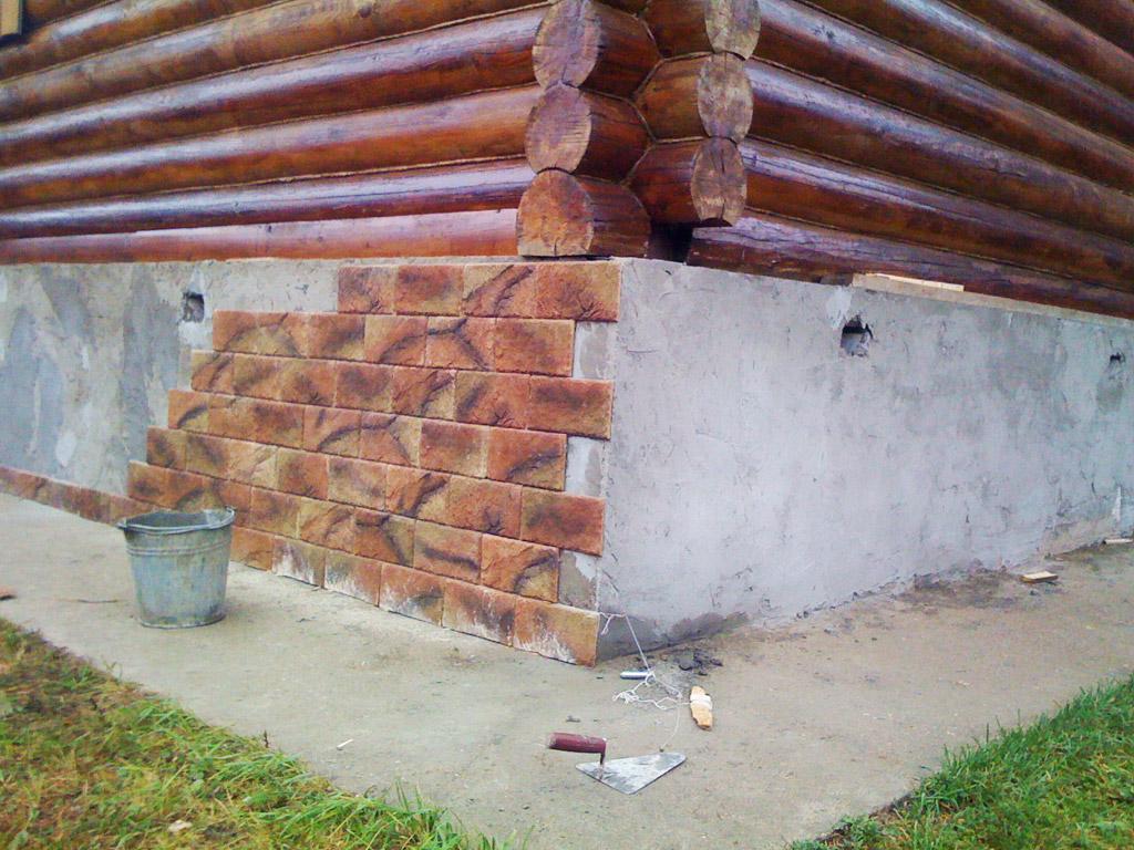 Отделка фундамента деревянного дома своими руками
