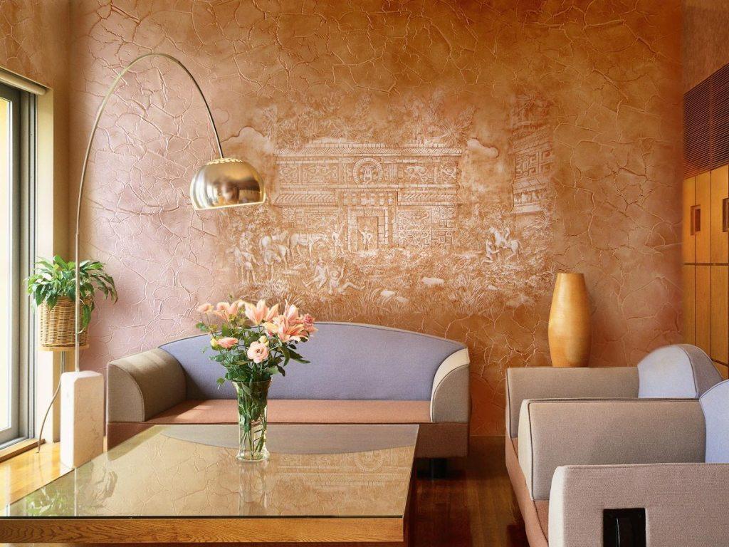 Покрытие для стен фото интерьера