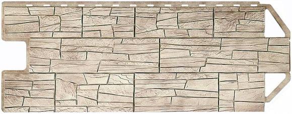 Панель сайдинга, сделанная под камень.