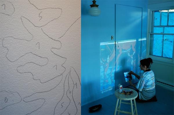 Перенос картинки на поверхность стены