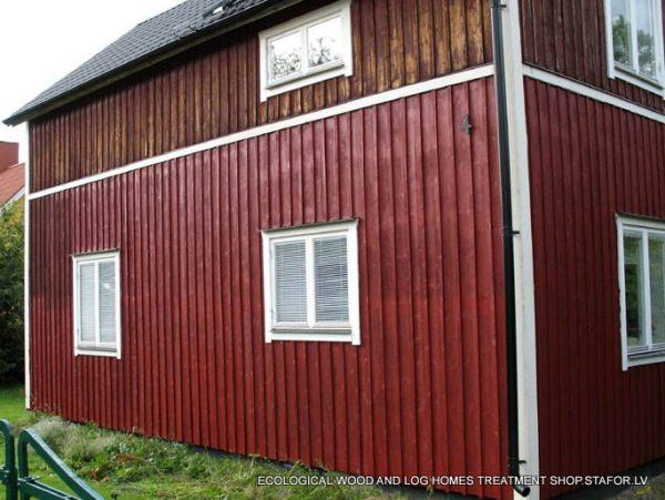 Покрашенный шведской краской дом